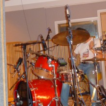 Martin on drums